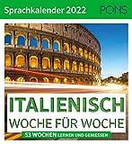 PONS Sprachkalender Italienisch 2022 - Woche für Woche