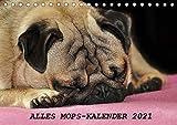 Alles Mops-Kalender 2021 (Tischkalender 2021 DIN A5 quer)