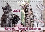 Katzen Persönlichkeiten 2021 (Tischkalender 2021 DIN A5 quer)