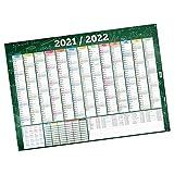 itenga XXL Schuljahreskalender Schülerkalender 2021 2022 Wandkalender DIN A0 abwischbar (118,9x84,1cm) 250g/m² gerollt