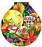 Lutzis Mondkalender rund Ø 16cm (Tagesabreisskalender) 2021: Andrea Lutzenberger