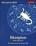 Skorpion Sternzeichenkalender 2021 - Tagesabreißkalender mit ausführlichem Tageshoroskop und Zitaten - Tischkalender zum Aufstellen oder Aufhängen - Format 11 x 14 cm