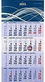 der blaue 4-Monatskalender Kompakt 2021 blauer Bürokalender großer Wandkalender