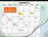 Wandkalender 2021 2022 von SmartPanda - Kalendar 2021-22 - Monatskalender für den Tisch Von Juli 2021 bis Dezember 2022 - Ein Monat zur Ansicht - 33 cm x 43 cm - auf Deutsch
