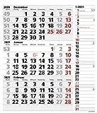 3-Monats-Planer XL Combi 2021: 3-Monatskalender extra groß I Wandplaner / Bürokalender mit Datumsschieber, Ferienterminen, Vor-und Nachmonat und Jahresübersicht I extra Streifenplaner I 30 x 47,8 cm
