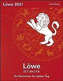 Löwe Sternzeichenkalender 2021 - Tagesabreißkalender mit ausführlichem Tageshoroskop und Zitaten - Tischkalender zum Aufstellen oder Aufhängen - Format 11 x 14 cm: Ihr Horoskop für jeden Tag