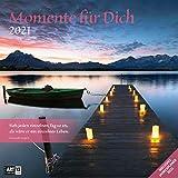 Momente für Dich 2021, Wandkalender / Broschürenkalender im Hochformat (aufgeklappt 30x60 cm) - Geschenk-Kalender mit Monatskalendarium zum Eintragen