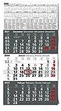 Kalender 3-Monatskalender 2022 Wandkalender groß - Kombi 3 Monatskalender ohne Werbung mit Datumsschieber | Bürokalender Monatsübersicht drei Monate mit Jahresübersicht | XXL 56 x 30 cm (gefalzt!)