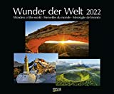 Wunder der Welt 2022: Großer Wandkalender über die Landschaft und Wahrzeichen der Erde. PhotoArt Kalender mit edlem schwarzem Hintergrund. 55 x 45,5 cm