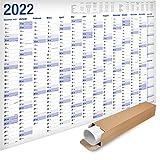 Yohmoe® XXL Jahresplaner 2022 Wandkalender (100x 70 cm) GEROLLT in Poster Größe. Querformat, Lieferung in Rolle - Wandplaner, Jahreskalender, Plakatkalender, Kalender, Groß. 1 Stück