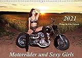 Motorräder und Sexy Girls (Wandkalender 2021 DIN A3 quer)