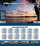 Drei-Monatskalender Deuschland 2021: Praktischer Monatsplaner mit umfassendem deutschen Kalendarium