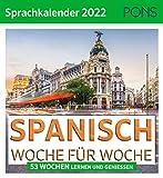 PONS Sprachkalender Spanisch 2022: Woche für Woche
