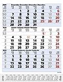 3-Monats-Planer Comfort Blau 2021: 3-Monatskalender groß I Wandplaner / Bürokalender mit Datumsschieber, Vor-und Nachmonat und Jahresübersicht I 30 x 39 cm