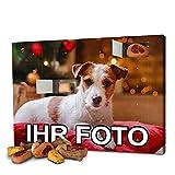 printplanet - Hunde-Adventskalender mit eigenem Foto personalisiert - mit Hunde Leckerlis gefüllt - Weihnachtskalender für Hunde - 2020