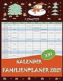Kalender Familienplaner 2021 XXL mit 7 Spalten, 22 x 28 cm | kalender für 12 Monate: January 2021 - Dezember 2021 | Familienkalender mit Ferientermine und vorschau bis März 2022.