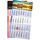 1 Stück 4-Monats-Kalender rot mit Druck Officekalender Bürokalender 2021 inkl. Ihrem 4-Farb-Werbedruck