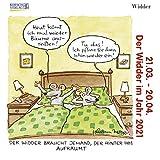 Widder Mini 2021: Sternzeichenkalender-Cartoon - Minikalender im praktischen quadratischen Format 10 x 10 cm.