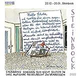 Steinbock Mini 2022: Sternzeichenkalender-Cartoon - Minikalender im praktischen quadratischen Format 10 x 10 cm.