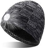 Adventskalender Männer 2020 Geschenke für Männer - Mütze mit Licht Personalisierte Geschenke, Aufladbar Waschbare LED Mütze 3 Licht Modi, Jogging Mütze mit Licht für Camping Laufen Radfahren Angeln