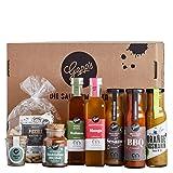 Gepp's Feinkost Grill & BBQ Paket Family I Großes Grillpaket für Männer & Frauen mit besten Zutaten zum Grillen I Grillzubehör aus leckeren Saucen, Aioli, Rub, Essig & Öl (A0062)