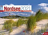 Nordsee ReiseLust Kalender 2021, Wandkalender im Querformat (45x33 cm) - Natur- und Reisekalender Deutsche Küste und Meer