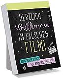 myNOTES Abreißkalender Herzlich Willkommen im falschen Film! 2022 - Ein genialer Spruch für jeden Tag: Tagesabreißkalender zum Aufstellen oder Aufhängen