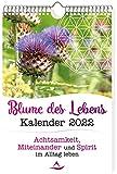 Blume des Lebens Kalender 2022: Wandkalender