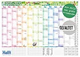 Wandkalender Schuljahr 2021/2022 groß, 89 x 63cm (A1) gefalzt   Schuljahreskalender, Schuljahresplaner für die Wand inkl. Ferientermine, 2 Stundenpläne   nachhaltig & klimaneutral