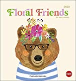 Floral Friends Postkartenkalender 2022 von Mia Charro - Kalender mit perforierten Postkarten - zum Aufstellen und Aufhängen - mit Monatskalendarium - 16 x 17 cm