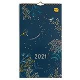 Boxclever Press Everyday Wandkalender 2021 für Zwei. Wandkalender 2021 Schmal für mehrere Terminpläne. Kalender 2021 Wandkalender von Jan. – Dez. '21. Kleiner Familienplaner 2021 4 spalten mit Tasche.