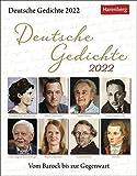 Deutsche Gedichte Tagesabreißkalender 2022 - Wissenskalender - vom Barock bis zur Gegenwart - Tischkalender zum Aufstellen oder Aufhängen - 12,5 x 16 cm