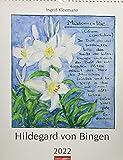 Hildegard von Bingen Kalender 2022 - Wandkalender mit Monatskalendarium - mit Rezepturen 12 Illustrationen - 30 x 39 cm