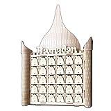 Eid Mubarak DIY Schubladenkalender, Ramadan Countdown Aus MDF-Holz Geschenkbox Dekorationen, Hausformen Für Den Advent, Party Dekoration Von R-WEICHONG