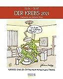 Krebs 2021: Sternzeichenkalender-Cartoonkalender als Wandkalender im Format 19 x 24 cm.