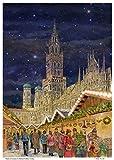 Richard Sellmer Verlag Adventskalender / Weihnachtskalender aus Papier mit Bildern und Glitzer München Rathaus
