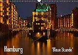 Hamburg'Blaue Stunde' (Wandkalender 2021 DIN A3 quer)