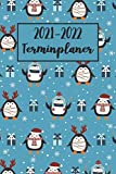 2021-2022 Terminplaner: Pinguin Wochenplaner (A5), Wochenkalender, Organizer | Terminkalender & Tagebuch | Platz für Notizen, To Do Liste - Pinguin Geschenke für Frauen, Mädchen