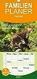Freigänger - Hauskatzen unterwegs - Familienplaner hoch (Wandkalender 2021, 21 cm x 45 cm, hoch)