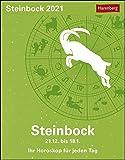 Steinbock Sternzeichenkalender 2021 - Tagesabreißkalender mit ausführlichem Tageshoroskop und Zitaten - Tischkalender zum Aufstellen oder Aufhängen - Format 11 x 14 cm: Ihr Horoskop für jeden Tag