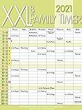 XXL Family Timer 8 2021: Familienplaner mit 8 breiten Spalten. Hochwertiger Familienkalender mit Ferienterminen, extra Spalte, Vorschau bis März 2022 und nützlichen Zusatzinformationen.