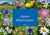 Alpiner Blütenzauber (Tischkalender 2021 DIN A5 quer)