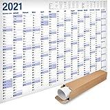 Yohmoe® XXL Jahresplaner 2021 Wandkalender (100x 70 cm) GEROLLT in Poster Größe. Querformat, Lieferung in Rolle - Wandplaner, Jahreskalender, Plakatkalender, Kalender, Groß. 1 Stück