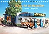 Route US 66 Momente Gemälde von Georg Huber (Tischkalender 2022 DIN A5 quer)