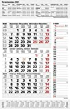 3-Monats-Planer Combi Grau 2021: 3-Monatskalender groß I Wandplaner / Bürokalender mit Datumsschieber, Ferienterminen, Vor-und Nachmonat und Jahresübersicht I extra Streifenplaner I 30 x 47,8 cm