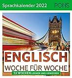 PONS Sprachkalender 2022 Englisch: Woche für Woche