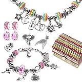 Heyu-Lotus Charm Armband Kit DIY, Adventskalender Teenager Mädchen Kunst Handwerk Geschenk für Kinder Mädchen Teenager 6-12 Jahre