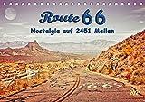 Nostalgie auf 2451 Meilen - Route 66 (Tischkalender 2021 DIN A5 quer)