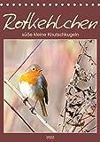 Rotkehlchen, süße kleine Knutschkugeln (Tischkalender 2022 DIN A5 hoch)