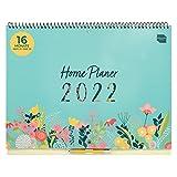 Boxclever Press Home Planer Kalender 2022 Wandkalender. Geräumiger Familienplaner 2022 ab sofort nutzbar bis Dez'22. Wandkalender 2022 Groß für aktive Familien. Familienkalender 2022 mit Listen.